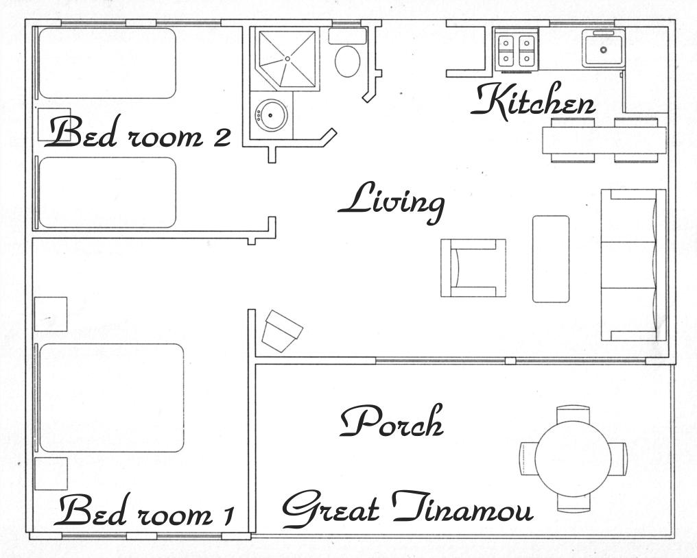 Floor plan Great tinamou Cottage